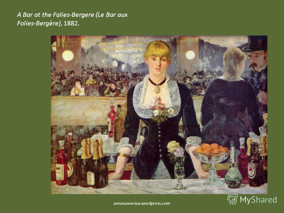 A Bar at the Falies-Bergere (Le Bar aux Folies-Bergère), 1882. annasuvorova.wordpress.com