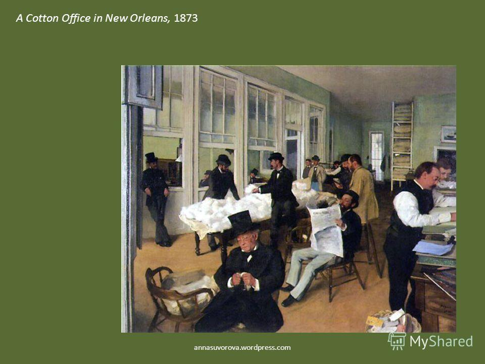 A Cotton Office in New Orleans, 1873 annasuvorova.wordpress.com