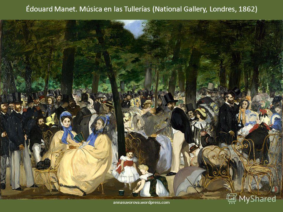 Édouard Manet. Música en las Tullerías (National Gallery, Londres, 1862) annasuvorova.wordpress.com
