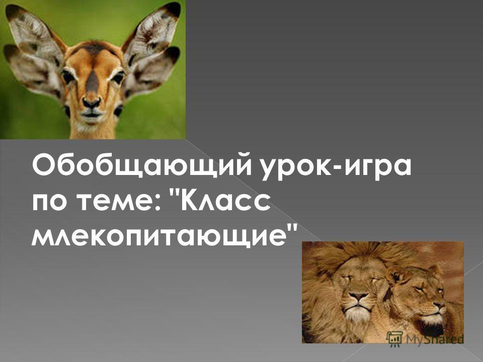 Обобщающий урок-игра по теме: Класс млекопитающие
