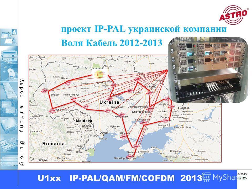 G o i n g f u t u r e t o d a y. © 2013 ASTRO U1xx IP-PAL/QAM/FM/COFDM 2013 проект IP-PAL украинской компании Воля Кабель 2012-2013