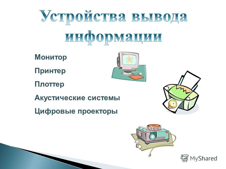 Монитор Принтер Плоттер Акустические системы Цифровые проекторы