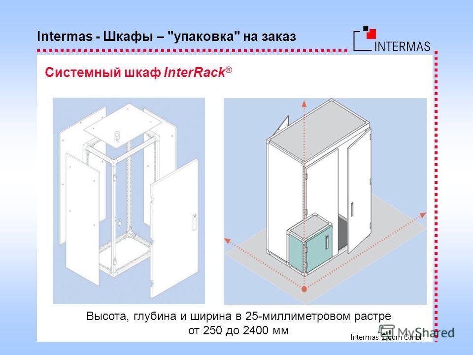 Intermas-Elcom GmbH Высота, глубина и ширина в 25-миллиметровом растре от 250 до 2400 мм Intermas - Шкафы – упаковка на заказ Системный шкаф InterRack ®