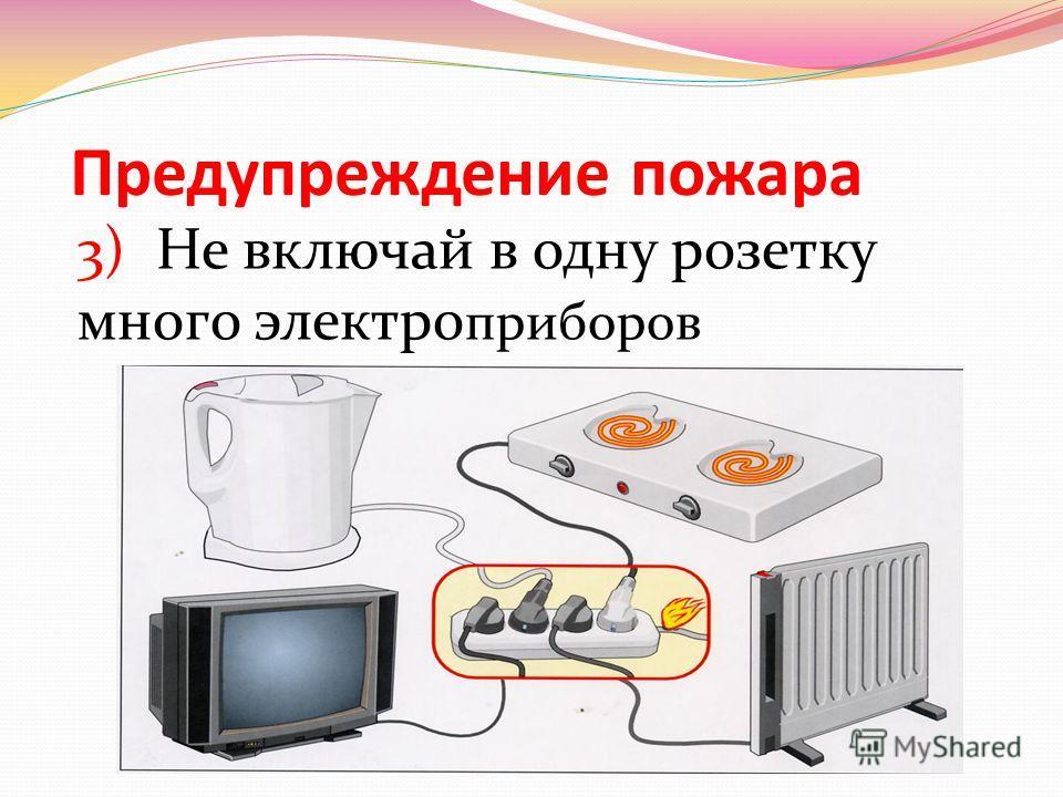 Предупреждение пожара 2) Не разжигай костров в лесу или возле строений