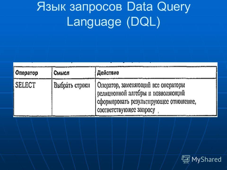 Язык запросов Data Query Language (DQL)