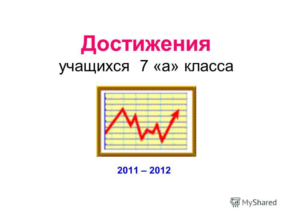 Достижения учащихся 7 «а» класса 2011 – 2012