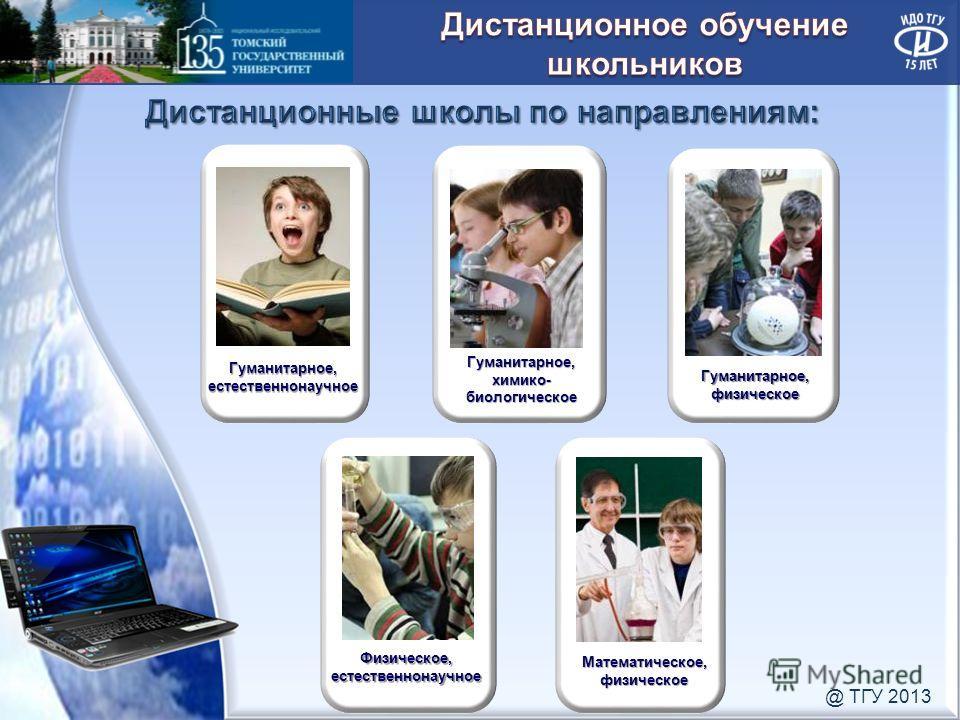 Гуманитарное, естественнонаучное Гуманитарное, физическое Математическое, физическое Гуманитарное, химико- биологическое Физическое, естественнонаучное @ ТГУ 2013