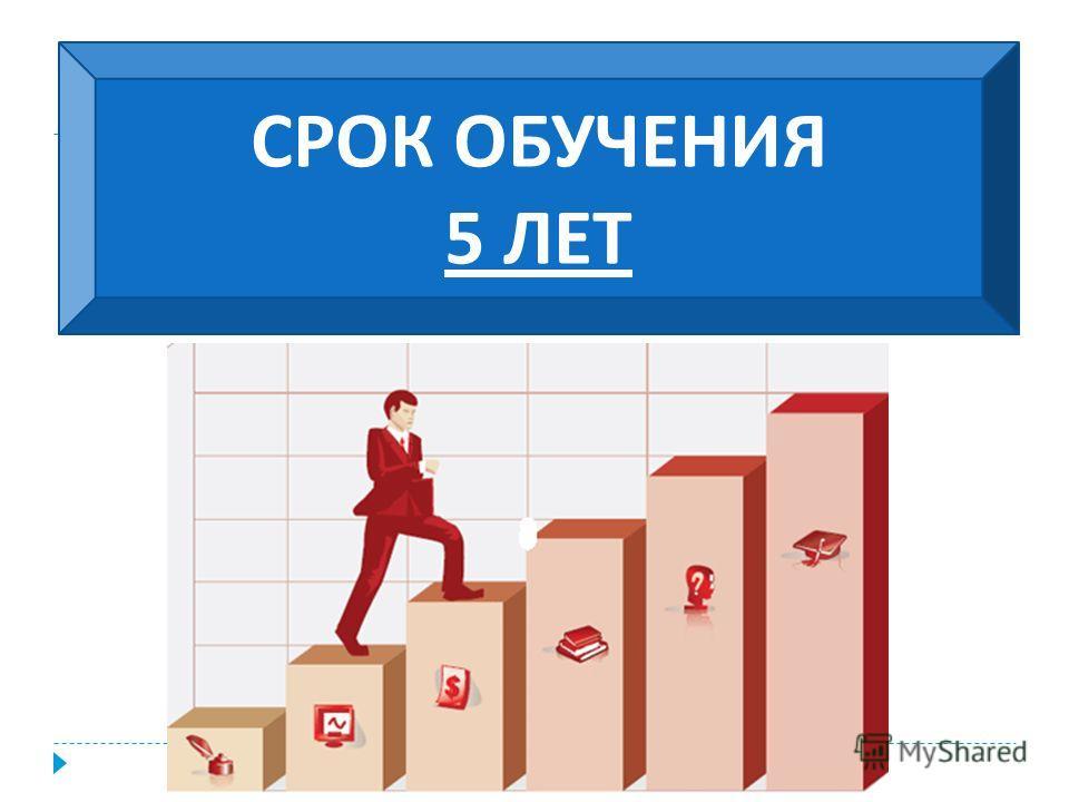 СРОК ОБУЧЕНИЯ 5 ЛЕТ