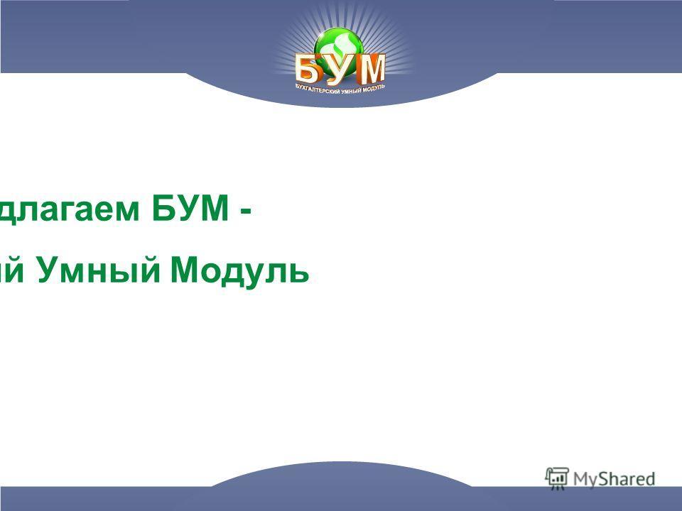 2. Мы предлагаем БУМ - Бухгалтерский Умный Модуль