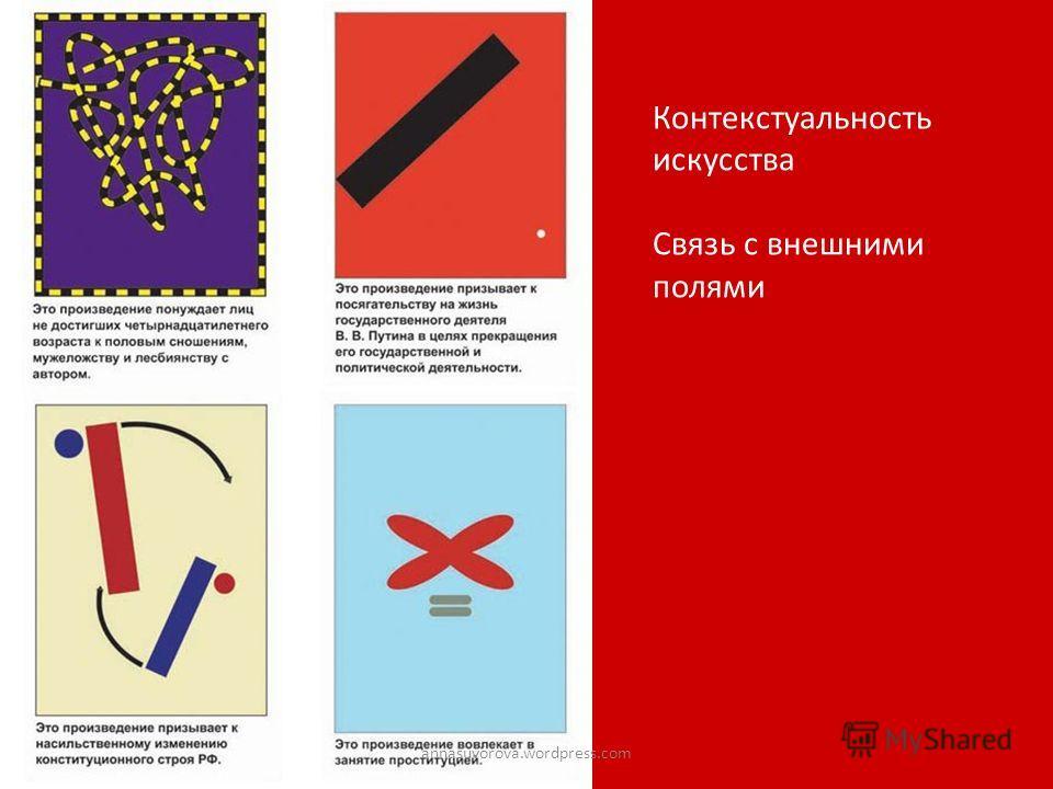 Контекстуальность искусства Связь с внешними полями annasuvorova.wordpress.com
