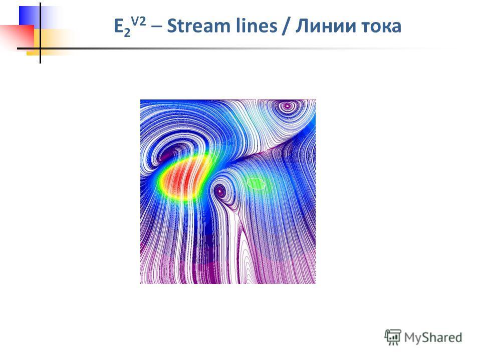 E 2 V2 – Stream lines / Линии тока