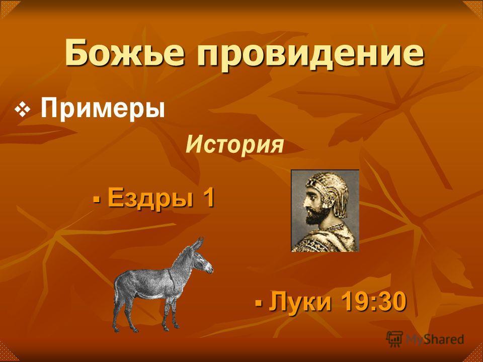 Луки 19:30 Луки 19:30 Ездры 1 Ездры 1 История Примеры Божье провидение