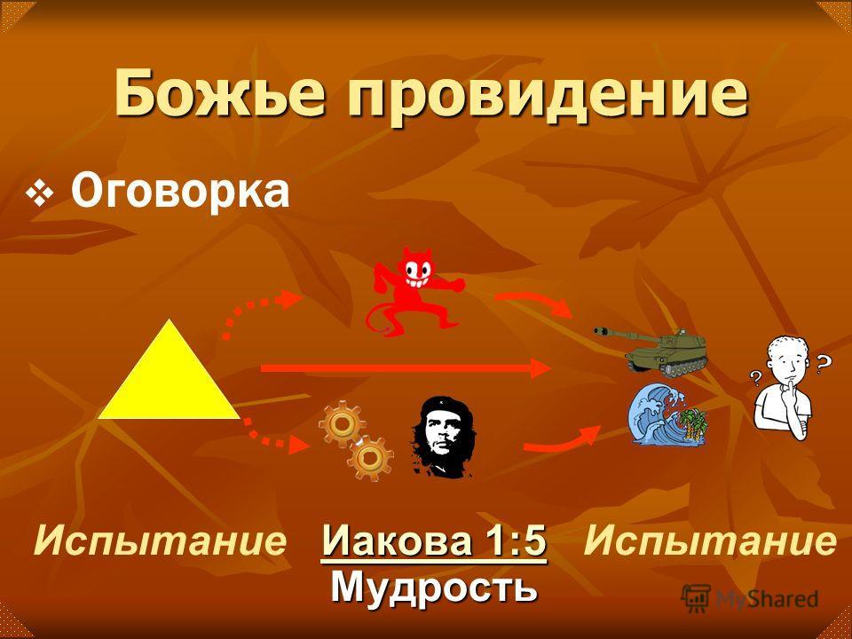 Иакова 1:5 Иакова 1:5 Мудрость Иакова 1:5 Испытание Божье провидение Оговорка