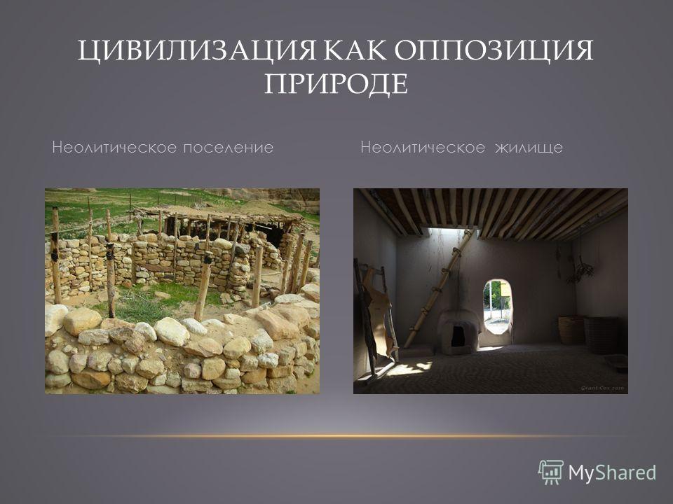 ЦИВИЛИЗАЦИЯ КАК ОППОЗИЦИЯ ПРИРОДЕ Неолитическое поселениеНеолитическое жилище
