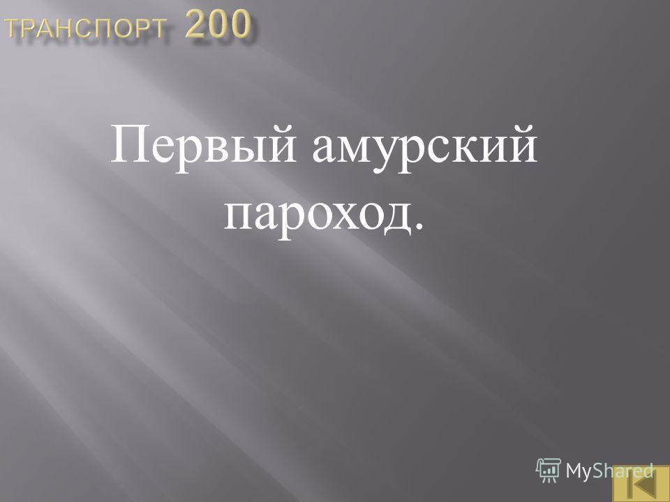 Первый амурский пароход.