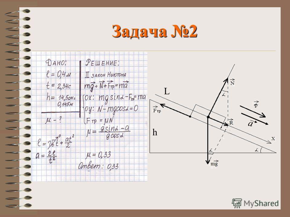 Задача 2 а L h