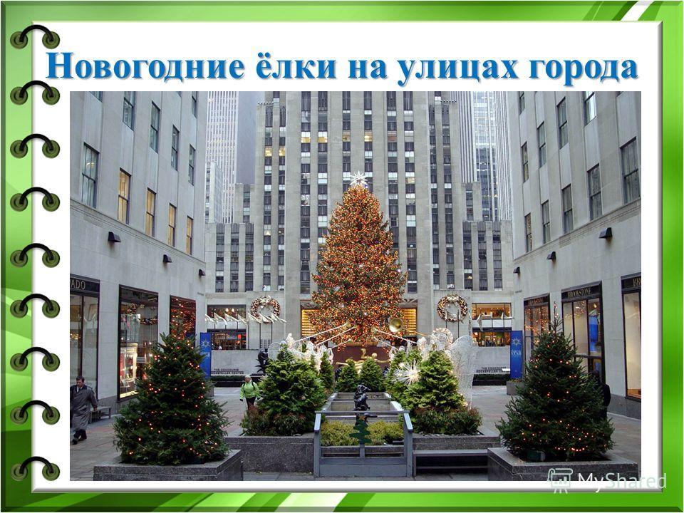 Новогодние ёлки на улицах города