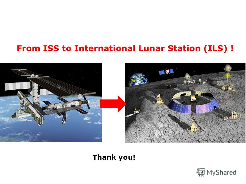 From ISS to International Lunar Station (ILS) ! Thank you!