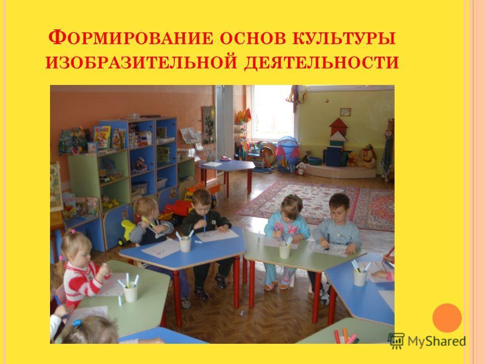Ф ОРМИРОВАНИЕ ОСНОВ КУЛЬТУРЫ ИЗОБРАЗИТЕЛЬНОЙ ДЕЯТЕЛЬНОСТИ