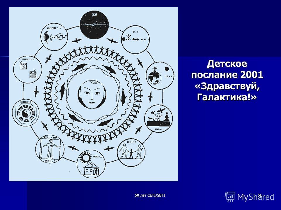 50 лет CETI/SETI51 Детское послание 2001 «Здравствуй, Галактика!»