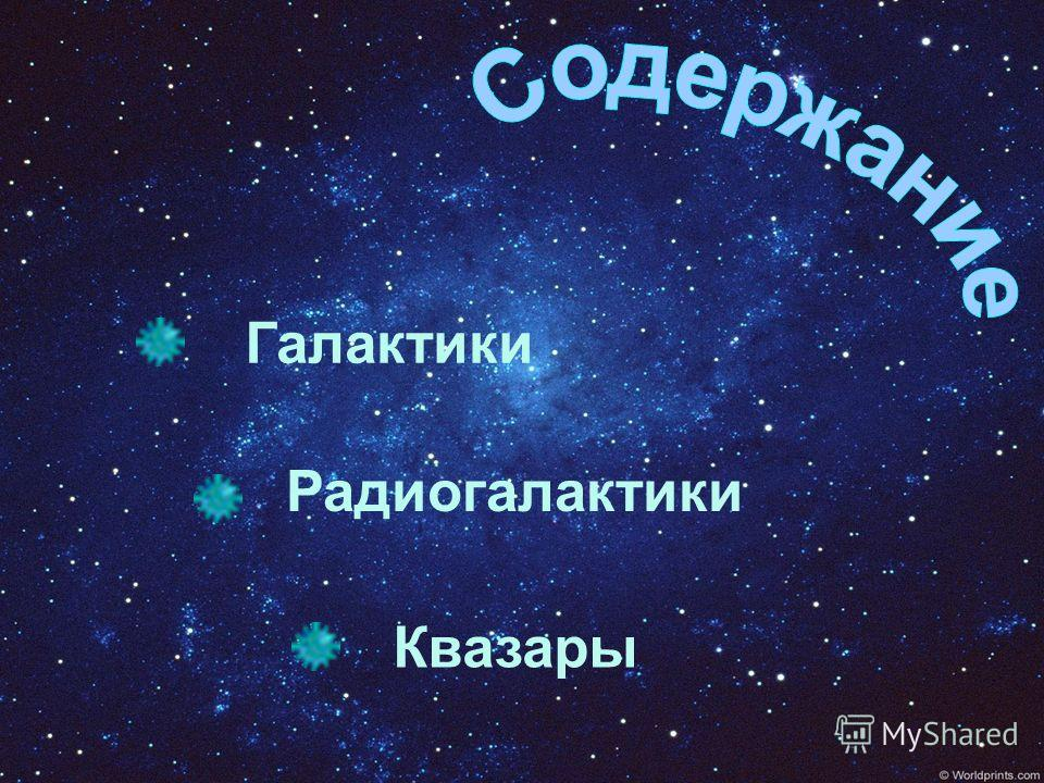 Галактики Радиогалактики Квазары