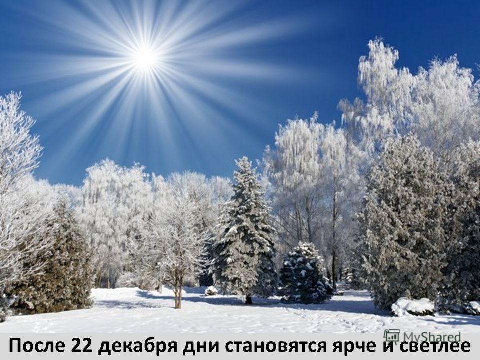 После 22 декабря дни становятся ярче и светлее