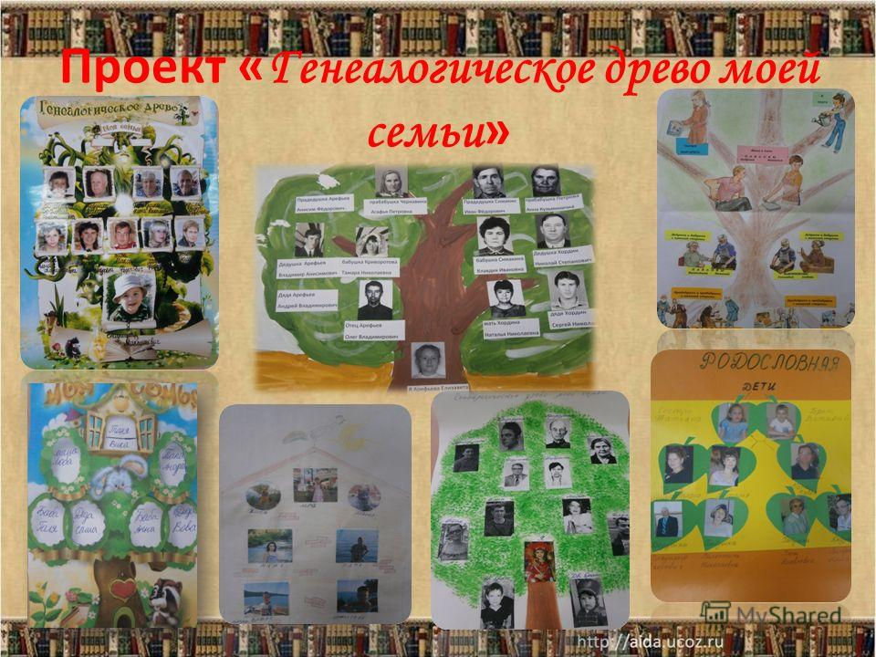 Проект « Генеалогическое древо моей семьи » 23.11.20135