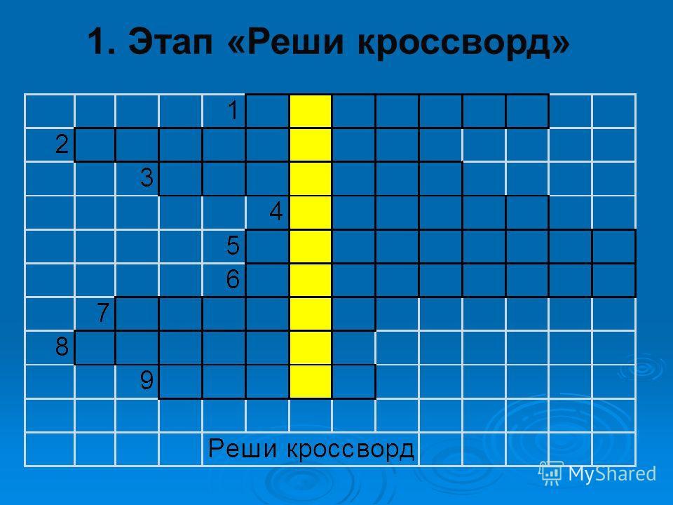 1. Этап «Реши кроссворд»