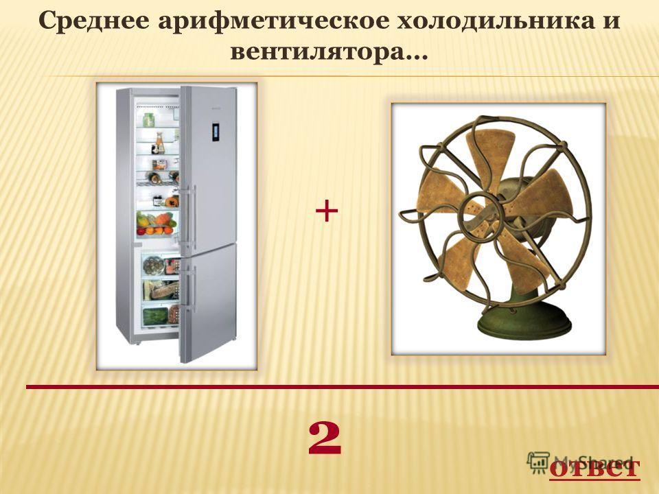 + 2 Среднее арифметическое холодильника и вентилятора… ответ