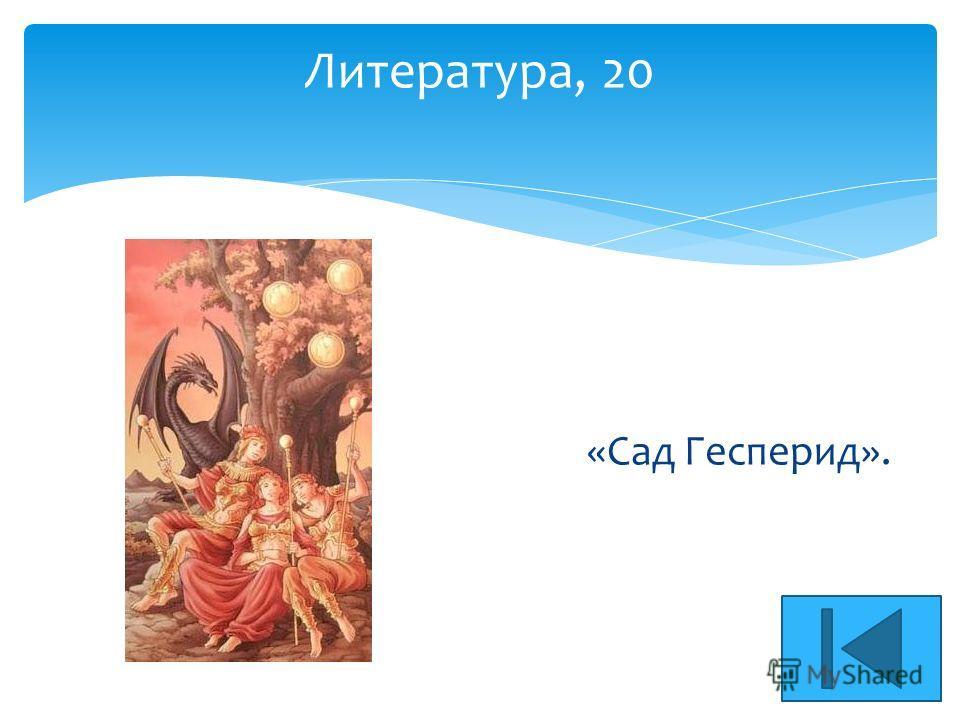Литература, 20 «Сад Гесперид».
