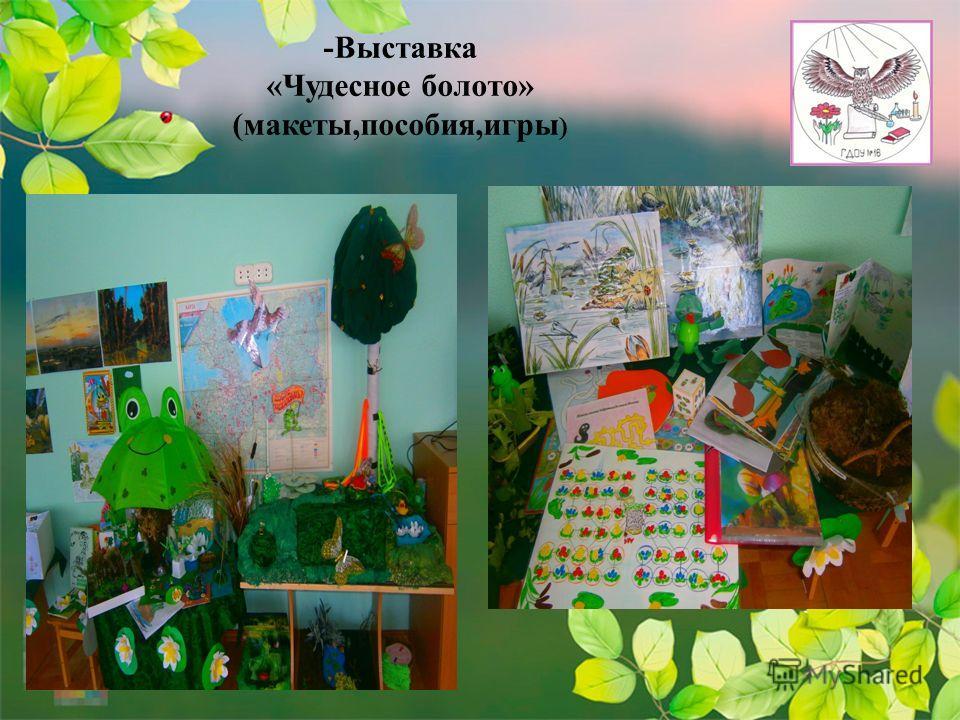 -Выставка «Чудесное болото» (макеты,пособия,игры )