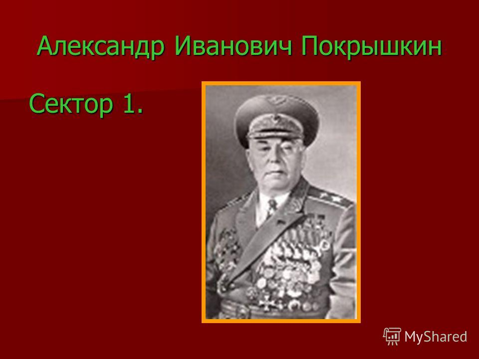 Александр Иванович Покрышкин Сектор 1.