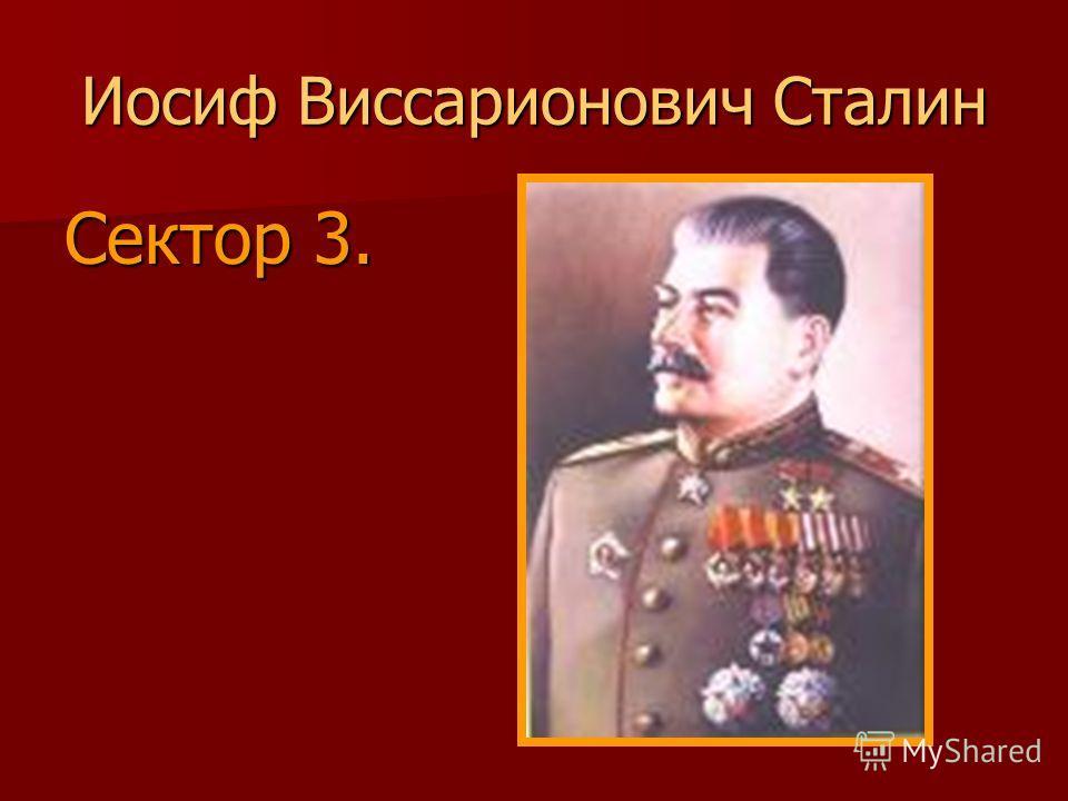 Иосиф Виссарионович Сталин Сектор 3.