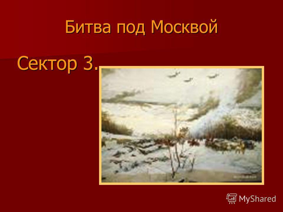 Битва под Москвой Сектор 3.