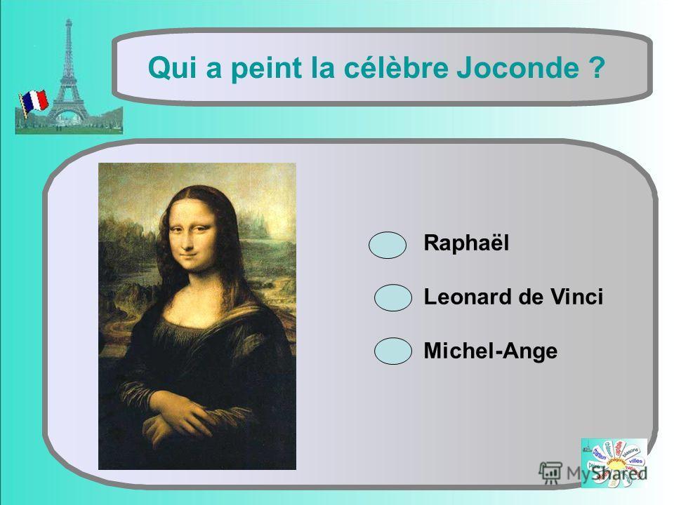 Qui a peint la célèbre Joconde ? Raphaël Leonard de Vinci Michel-Ange