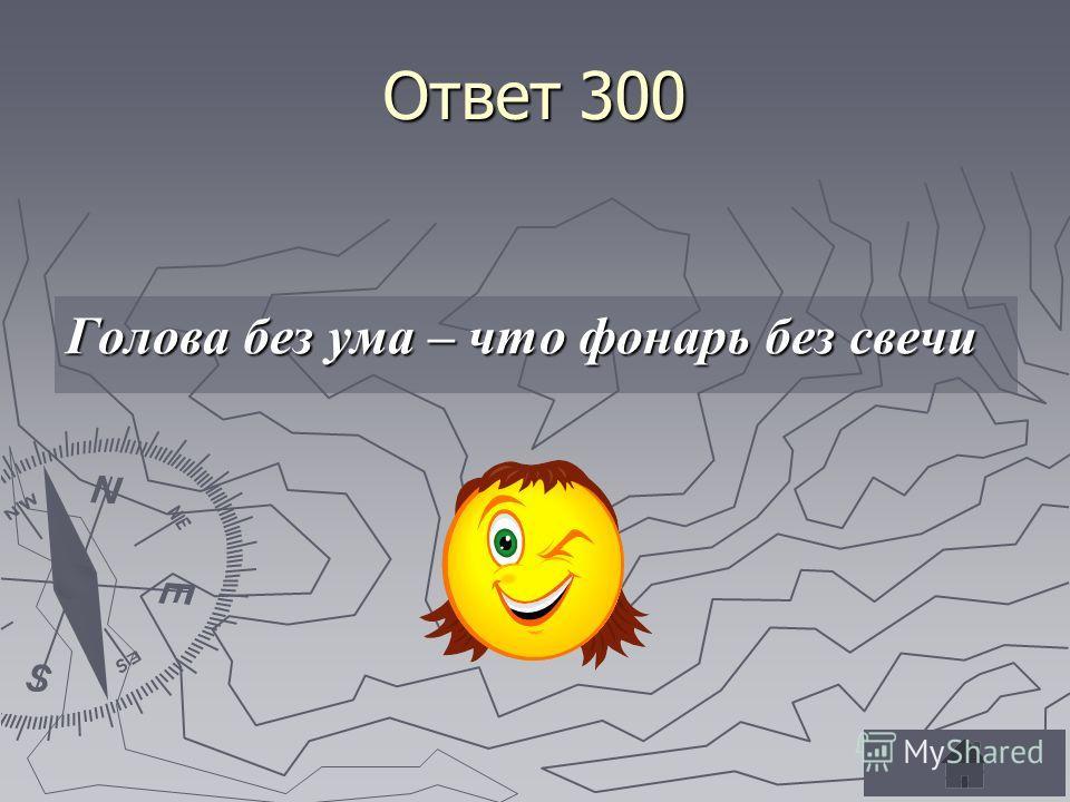 Ответ 300 Голова без ума – что фонарь без свечи