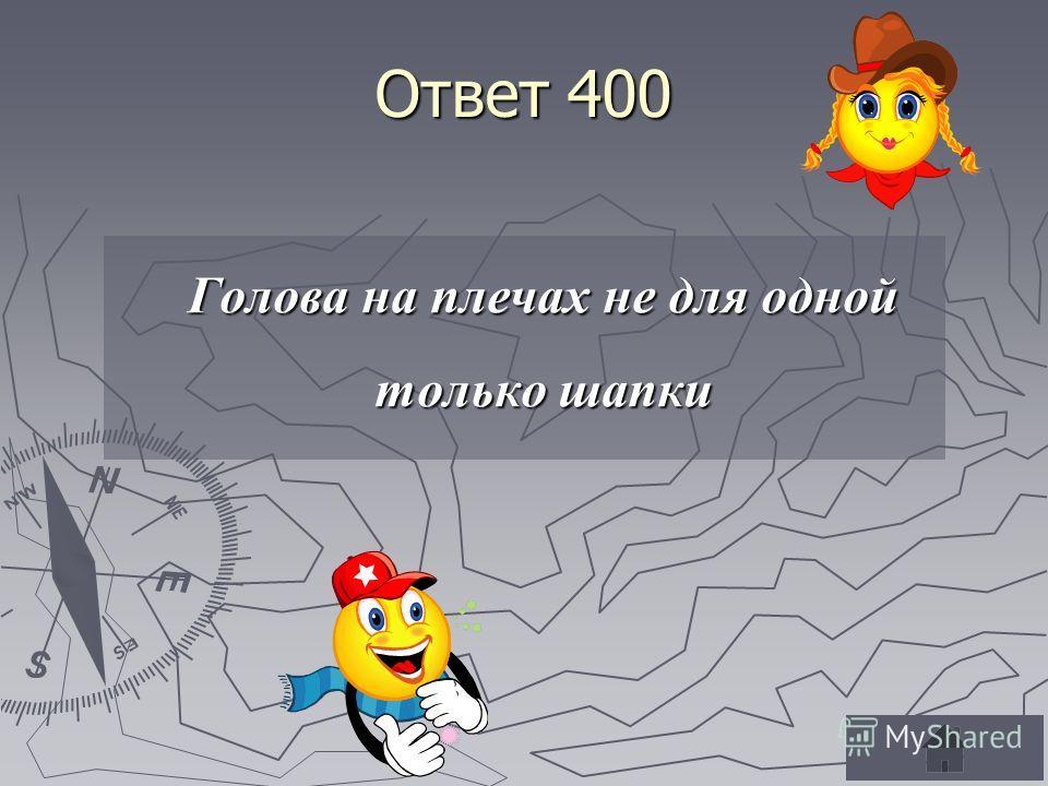 Ответ 400 Голова на плечах не для одной только шапки