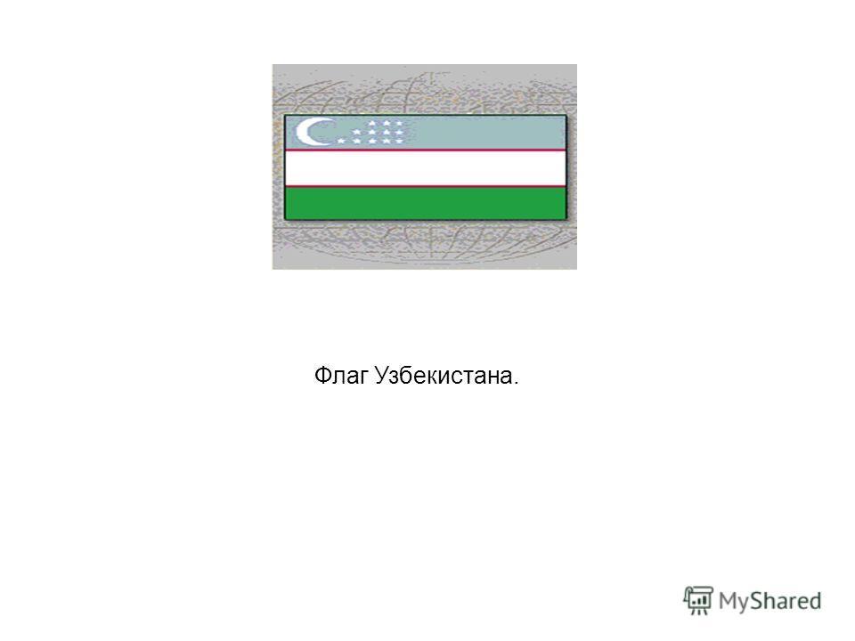 Флаг Узбекистана.