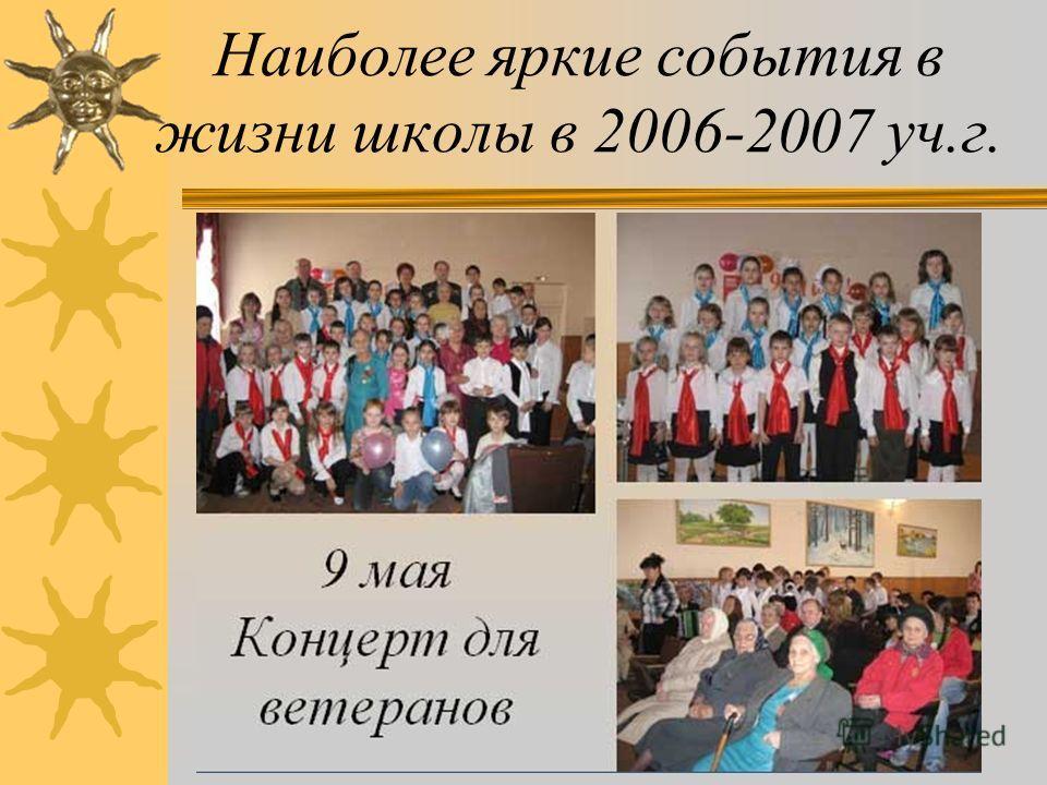 8 марта Наиболее яркие события в жизни школы в 2006-2007 уч.г.