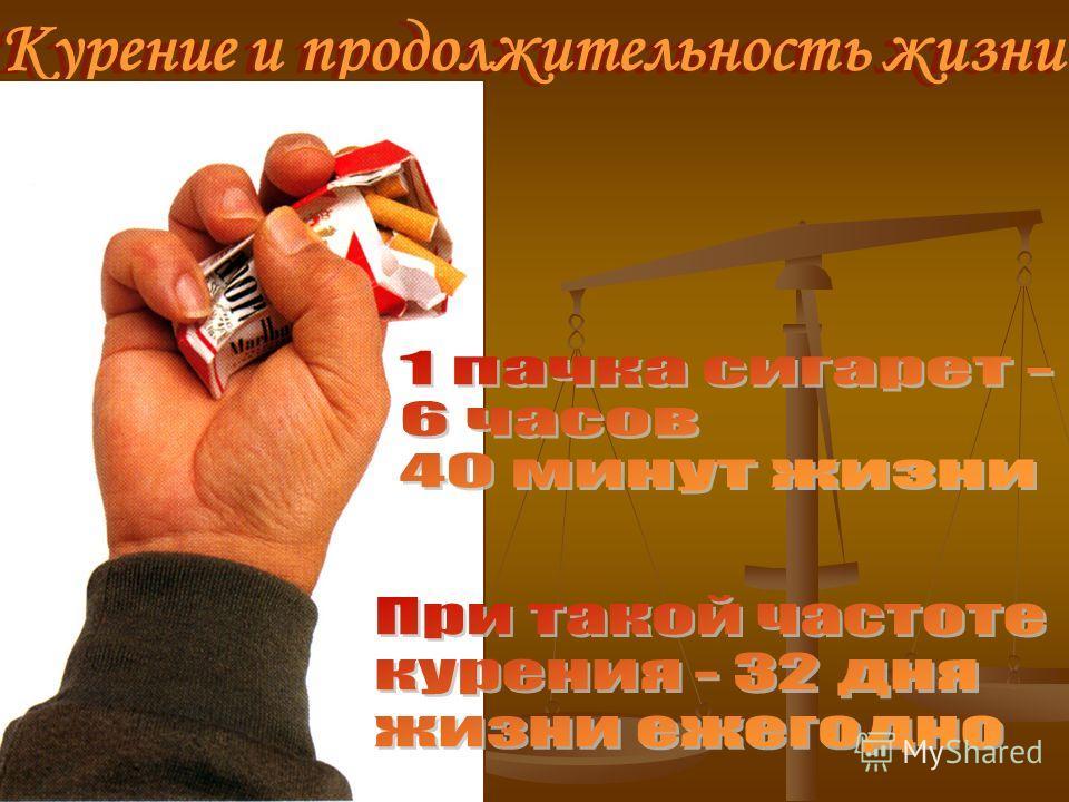 Курение и продолжительность жизни Курение и продолжительность жизни