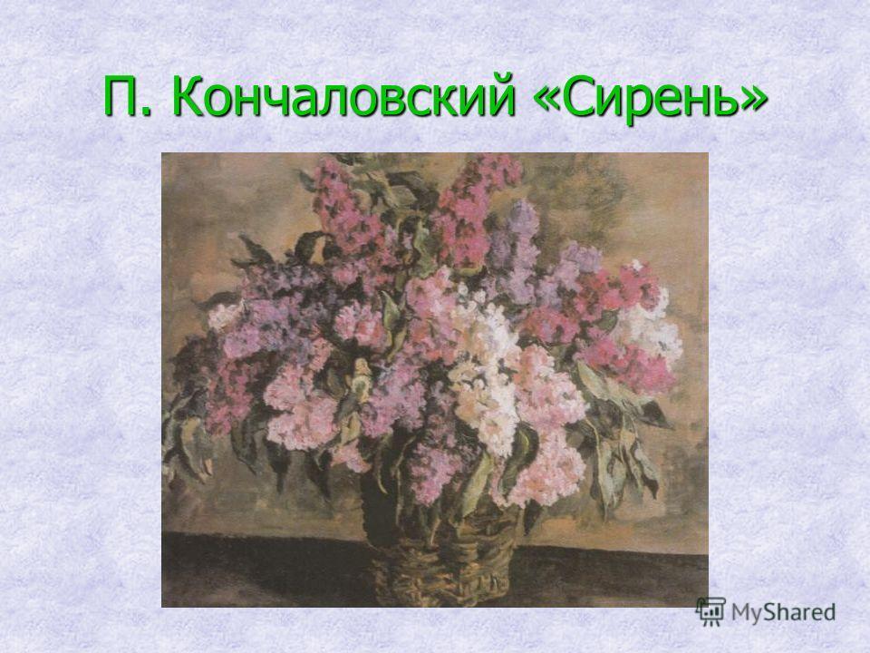 П. Кончаловский «Сирень»