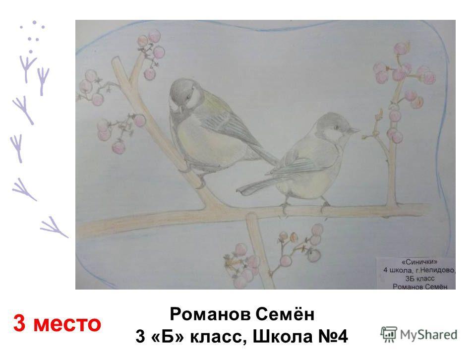 Романов Семён 3 «Б» класс, Школа 4 3 место