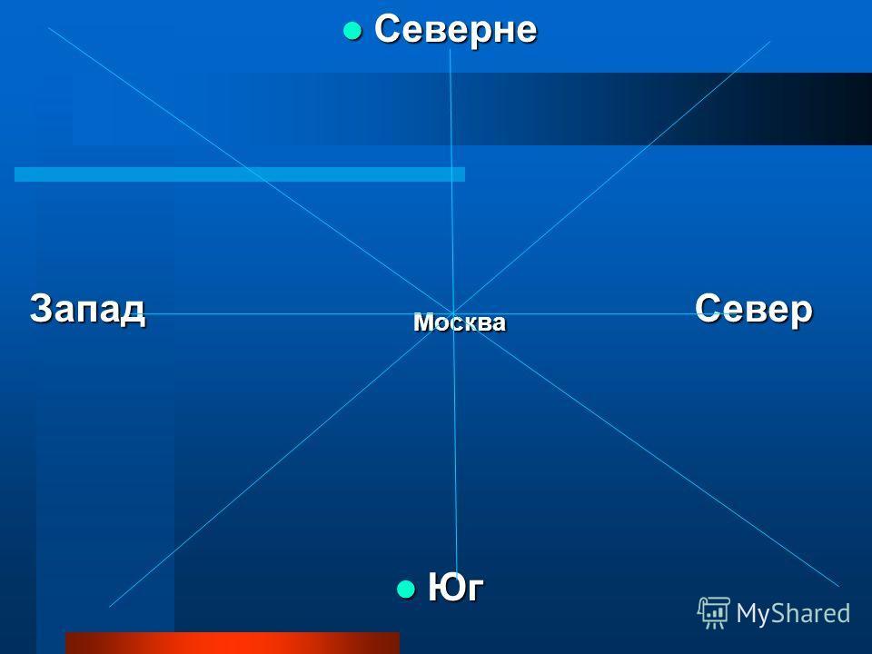Северне Северне Запад Москва Север Юг Юг