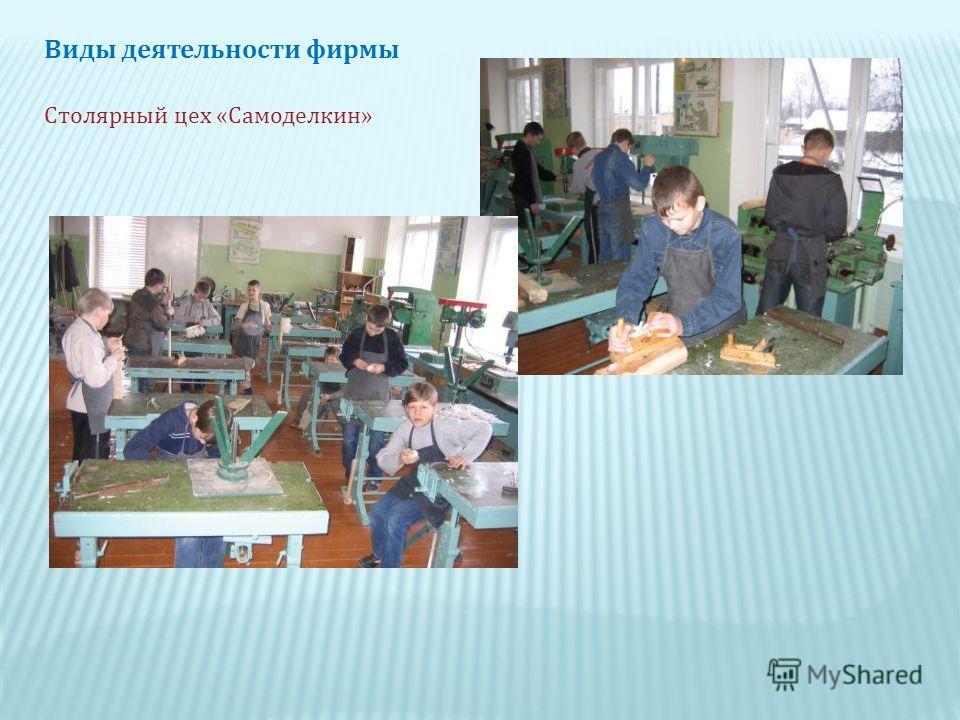Виды деятельности фирмы Столярный цех « Самоделкин »