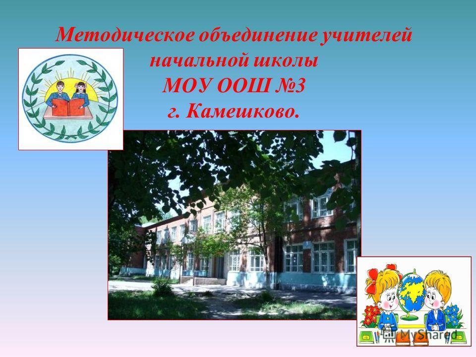 Методическое объединение учителей начальной школы МОУ ООШ 3 г. Камешково.