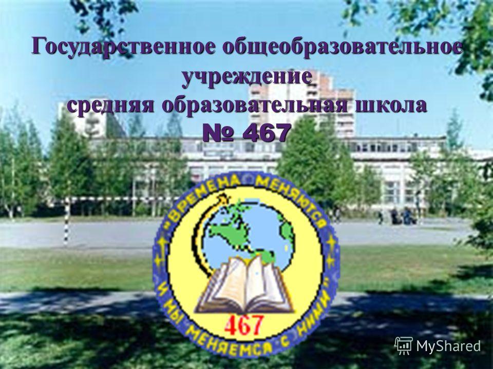 Государственное общеобразовательное учреждение средняя образовательная школа 467 467