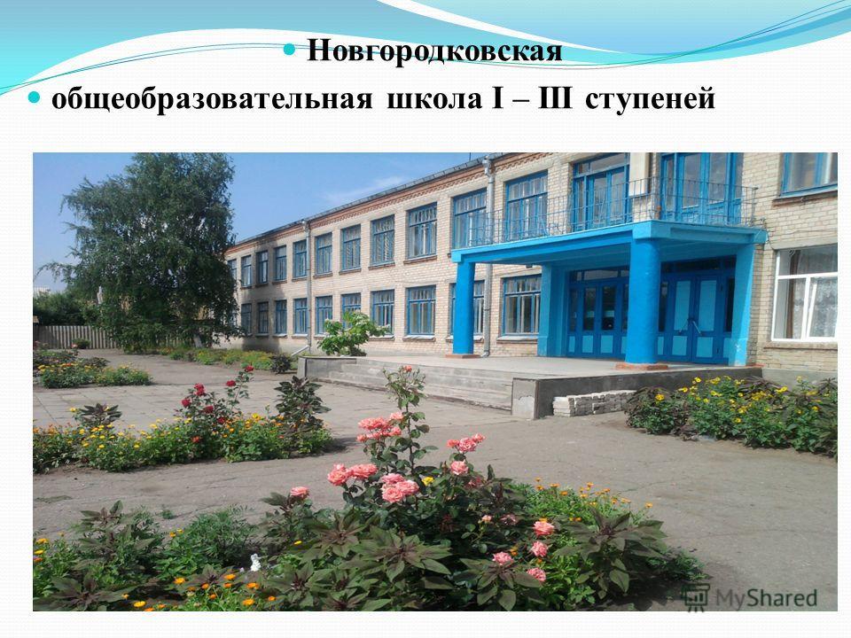 Новгородковская общеобразовательная школа І – ІІІ ступеней