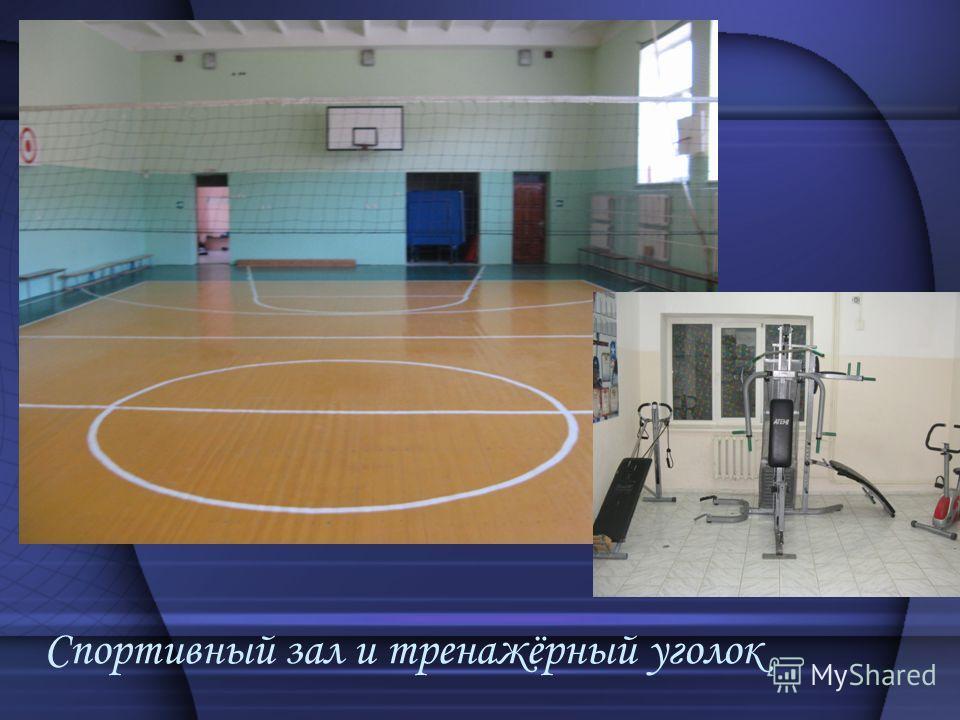Спортивный зал и тренажёрный уголок