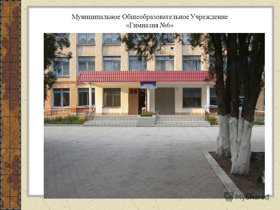 Муниципальное Общеобразовательное Учреждение «Гимназия 6»