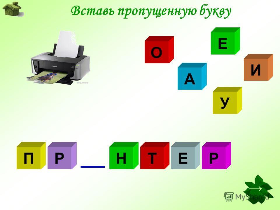 Вставь пропущенную букву А И Е О У МДЕМ